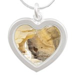 Sandstone Silver Heart Necklace