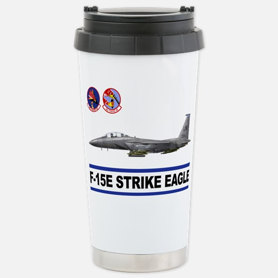 492_FS_F15_STRIKE_EAGLE Stainless Steel Travel Mug
