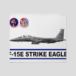492_FS_F15_STRIKE_EAGLE Throw Blanket