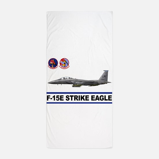 492_FS_F15_STRIKE_EAGLE.png Beach Towel