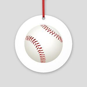 baseball/ softball Round Ornament