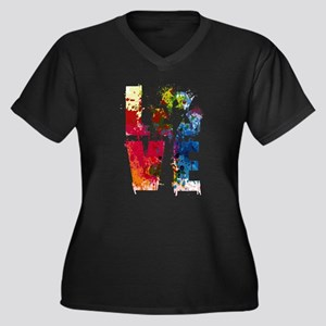 Love Recycle Reuse Reduce Earth Plus Size T-Shirt