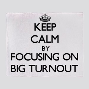 Keep Calm by focusing on Big Turnout Throw Blanket