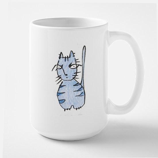 Blue Kitty Mugs