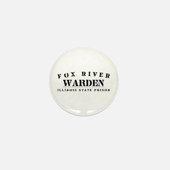 Warden - Fox River Mini Button