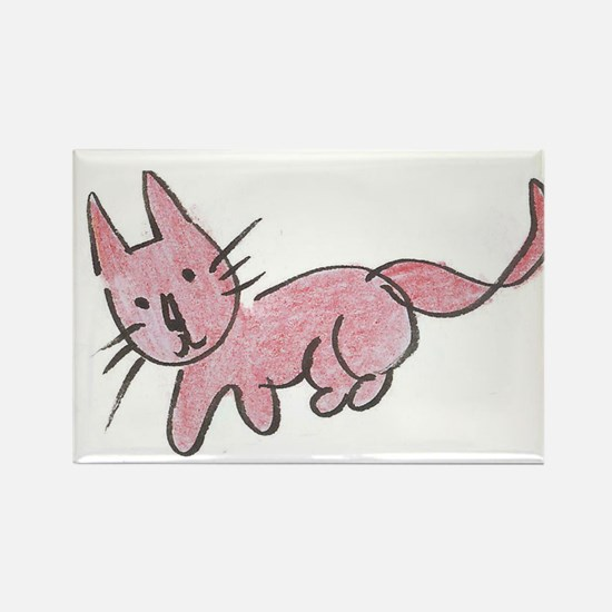Pink Kitty Magnets