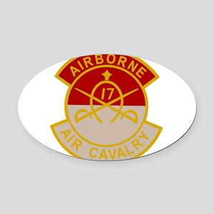 17th Air Cavalry 1st Squadron Airb Oval Car Magnet
