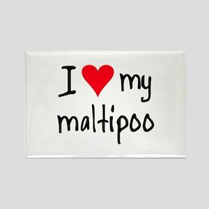 I LOVE MY Maltipoo Rectangle Magnet