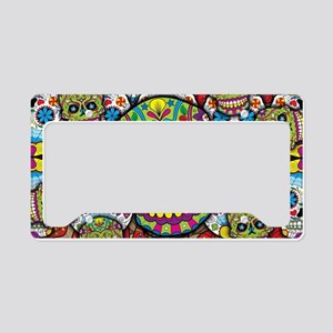 Sugar Skulls License Plate Holder