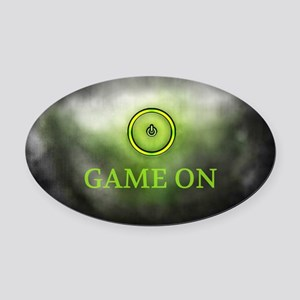 Game On Oval Car Magnet