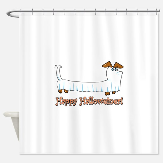 Happy Halloween Dachshund Shower Curtain