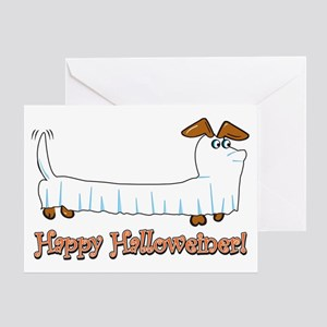 Dachshund halloween greeting cards cafepress happy halloween dachshund greeting cards m4hsunfo