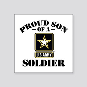 "Proud Son U.S. Army Square Sticker 3"" x 3"""