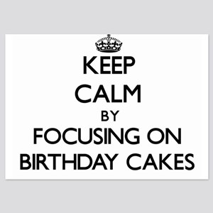 Keep calm birthday invitations and announcements cafepress keep calm by focusing on birthday cake invitations filmwisefo