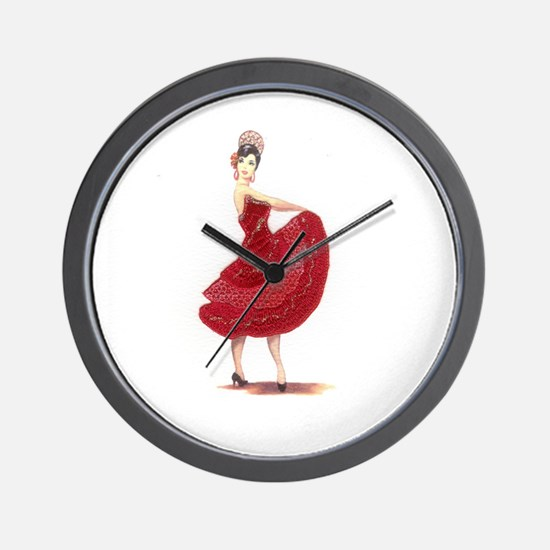 flamenco dancer Wall Clock