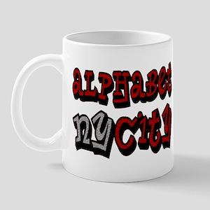 """""""CLICK HERE for ALPHABET CITY Mug"""