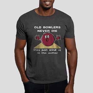Old Bowlers Never Die Dark T-Shirt