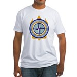 USS CLAUDE V. RICKETTS Fitted T-Shirt