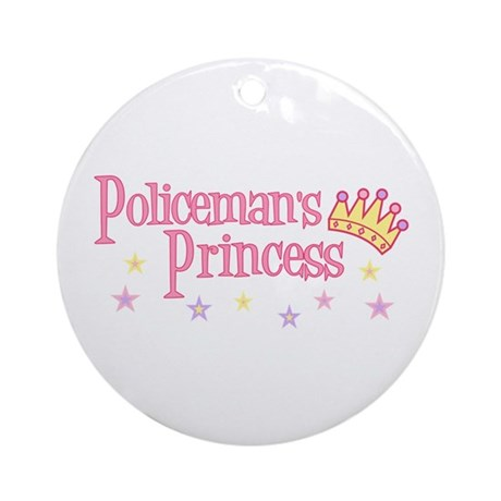Policeman's Princess Ornament (Round)