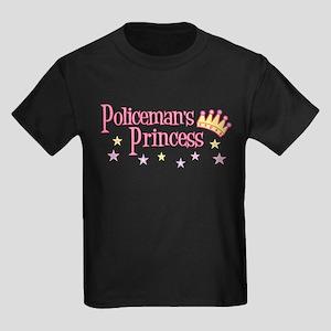 Policeman's Princess Kids Dark T-Shirt