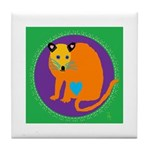 Golden Palm Civet Tile Coaster