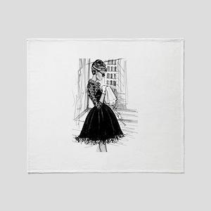 fashion sketch Throw Blanket