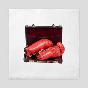 Boxing Gloves in a Briefcase Queen Duvet