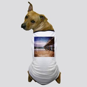 California Pacific Ocean Pier Dog T-Shirt