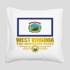 West Virginia (v15) Square Canvas Pillow
