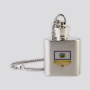 West Virginia (v15) Flask Necklace