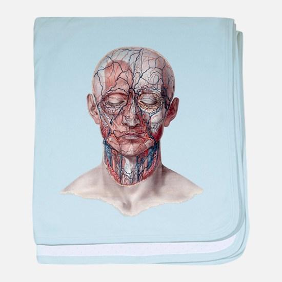 Human Anatomy Face baby blanket