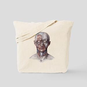 Human Anatomy Face Tote Bag