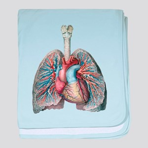 Human Anatomy Heart and Lungs baby blanket