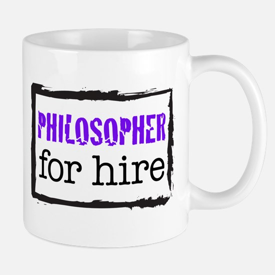 Philosopher for Hire (Purple) Mug