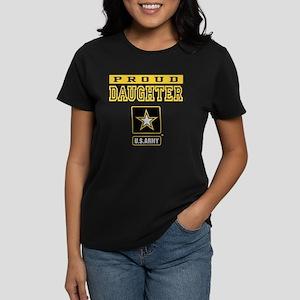 Proud Daughter U.S. Army Women's Dark T-Shirt
