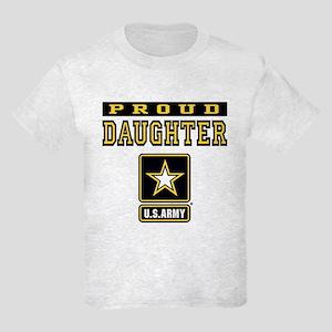 Proud Daughter U.S. Army Kids Light T-Shirt