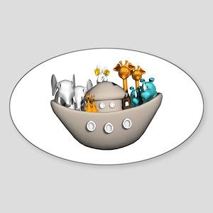Noah's Ark Oval Sticker