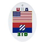 3ID Oval Ornament