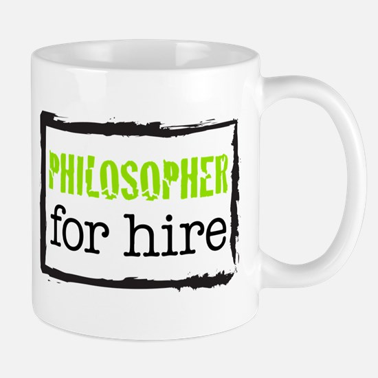 Philosopher for Hire (Green) Mug