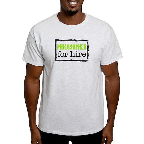 Philosopher for Hire (Green) Light T-Shirt