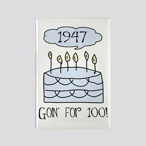 1947 60th birthday Rectangle Magnet