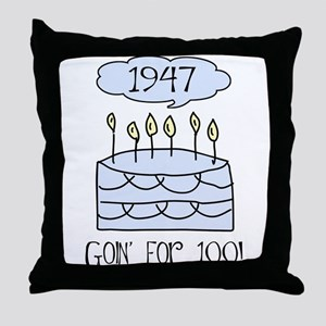 1947 60th birthday Throw Pillow