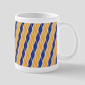Orange and Blue Stripes Mug