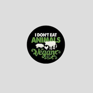 Vegan Animals Mini Button