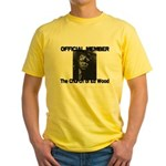OFFICIAL Church of Ed Wood Yellow t-shirt