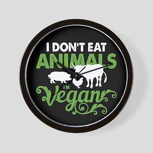 Vegan Animals Wall Clock