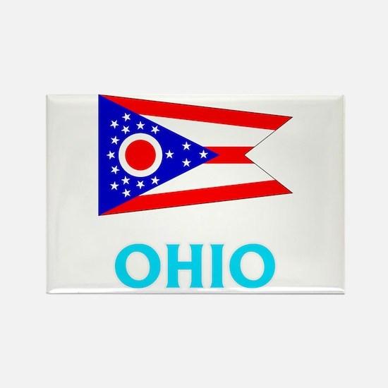 Ohio Flag Classic Blue Design Magnets