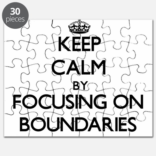 Keep Calm by focusing on Boundaries Puzzle