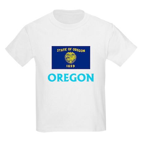 Oregon Flag Classic Blue Design T-Shirt