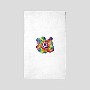 hibiscus tie dye 1 3'x5' Area Rug